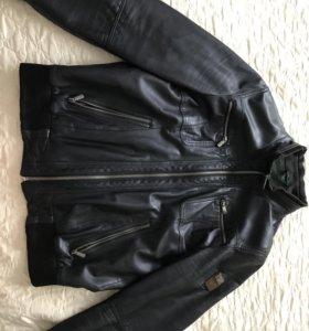 Кожаная муж куртка