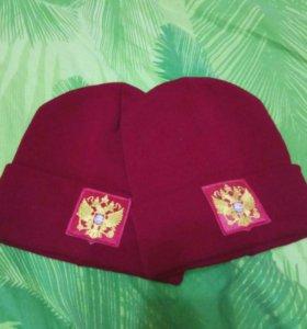 Шапка с гербом России
