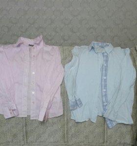 Блузки-рубашки школьные для девочки