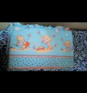 Полный комплект в кроватку(с одеялом и подушкой)