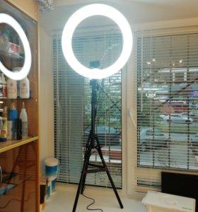 Большая Кольцевая лампа 55Вт Диаметр 48см 240шт