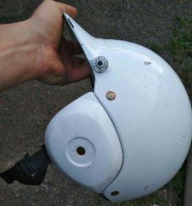 Мотошлем белый без бороды бу япония (номер 1004)
