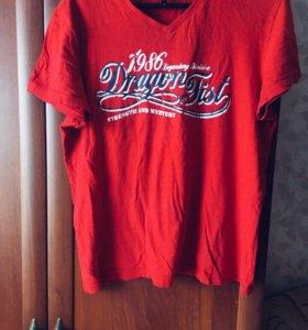 Красная мужская футболка ✅