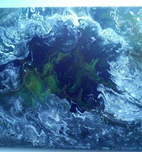 Картина на холсте космос-море