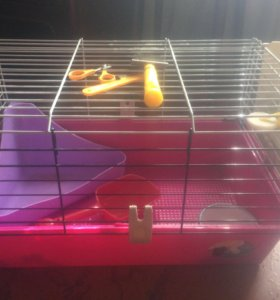 Клетка для грызунов кроликов шиншил с аксессуарами