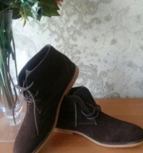 ботинки иск замша мужские