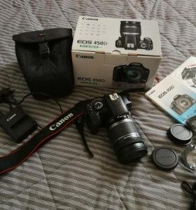Фотоаппарат Canon 450d, объектив ef-s 18-200 Kit