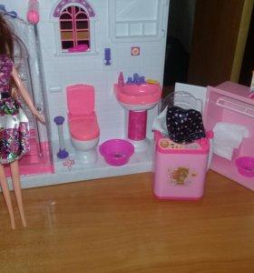 Ванная комната + кукла