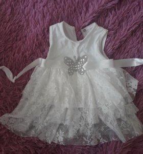 новое платье для девочки от 3 до 6 мес