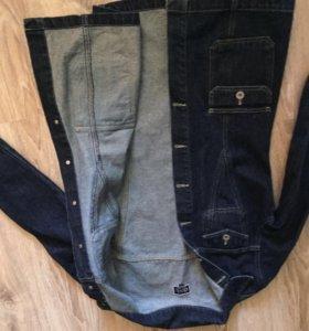 Джинсовая удлинённая куртка