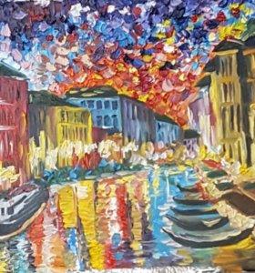 """Картина маслом """"Венеция"""""""