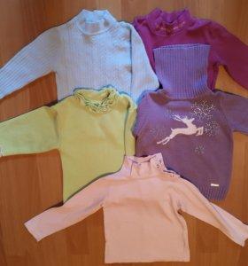 Кофточки, свитерочки, водолазки на 2 годика