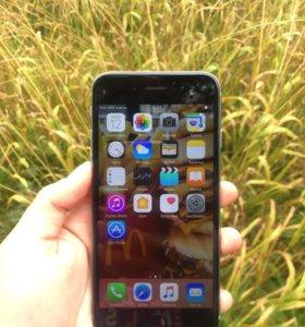 iPhone 6,16 гб без отпечатка как новый