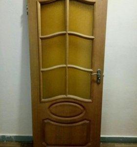 Продам дверь с коробкой и замком,б.у