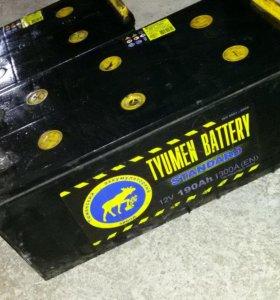 Аккумуляторы грузовые на 190 ампер 2 штуки