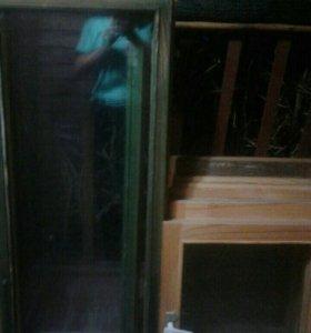 Двустверчатые деревянные окна