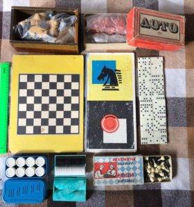 Настольные игры СССР оптом домино, лото, шахматы,