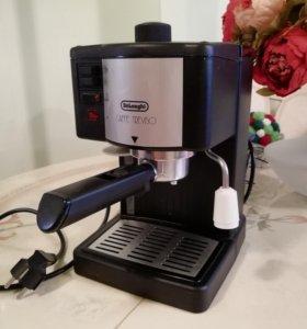 Кофемашина delonghi, рожковая, для молотого кофе
