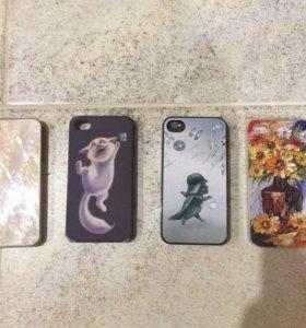 Чехлы на iPhone 4/4s цена за всё