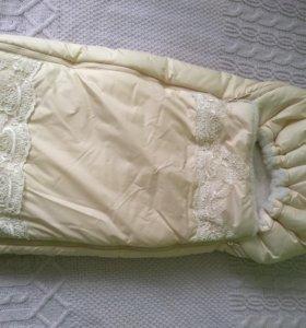 Конверт с одеялом для выписки