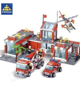 Конструктор kazi пожарная станция с инструкцией