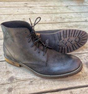 Кожаные демисезонные ботинки Saints Base, Чёрные