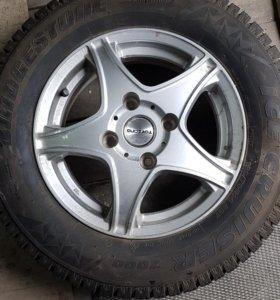 Литье 4х114.3х14 резина Bridgestone 185x70x14