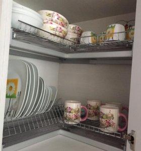 Сушилка для посуды угловая двухуровневая 600*600мм