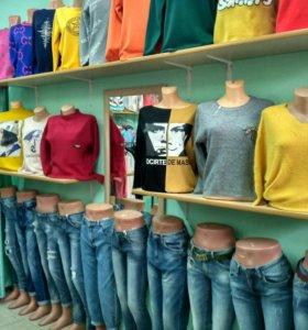 Молодежные кофты.джинсы.