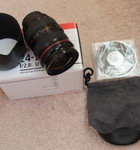 Canon EF 24-70mm f/2.8L USM с блендой и чехлом