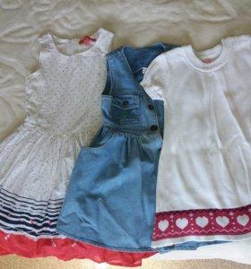 Платья и другие вещи на девочку 2-3х лет