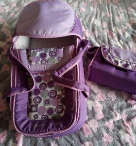 Сумка переноска для малыша и сумка для мамы