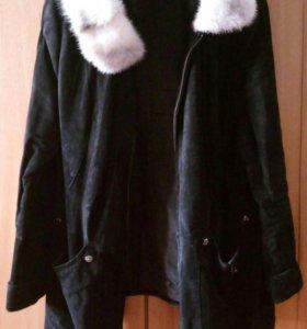 Куртка из натуральной замши осень-весна