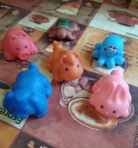 Резиновые игрушки для ванны.Конструктор Лего Дупло