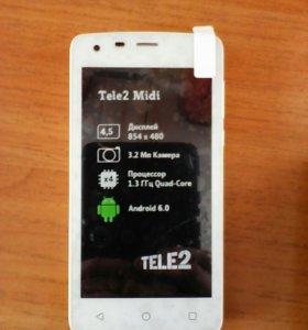 Новый смартфон Tele2 Midi