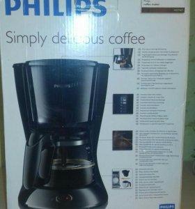 Кофеварка Philips новая