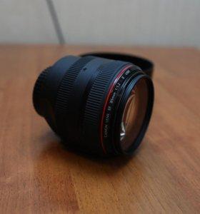 Объектив Canon 85 mm f1. 2L II usm