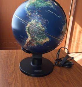 Глобус рельефный с подсветкой
