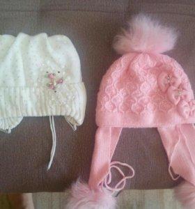 Зимние шапочки 50р за две