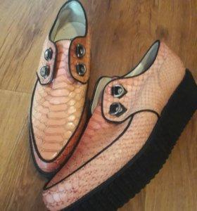 Ботинки туфли Броги На платформе