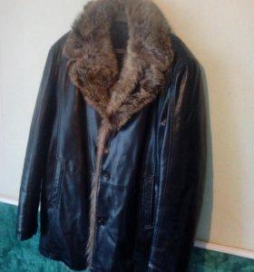 Кожаная куртка 58р.
