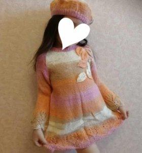 Платье связанное на заказ