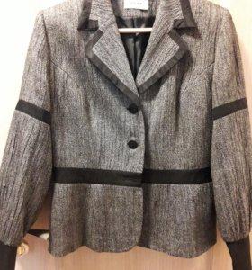 Шерстяной фирменный женский пиджак