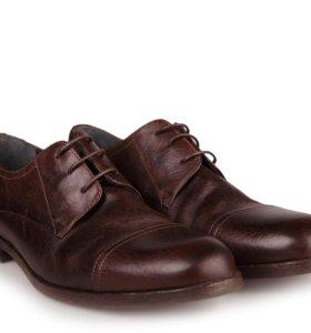 Туфли кожаные Sisley коричневые (42) новые
