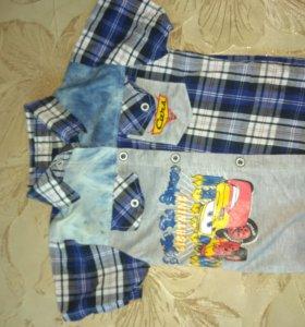 Рубашка и шорты до 3 лет.