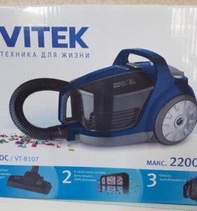 Пылесос с контейнером для пыли VITEK VT-8107 НОВЫЙ