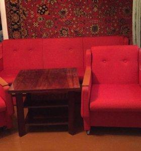 Комплект мебели, журнальный столик