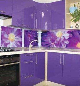 Производство Кухонный фартук с УФ печатью.