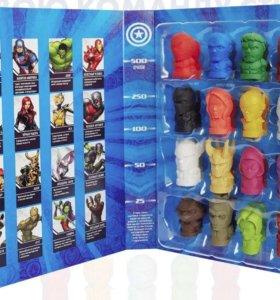 Marvel ластики резиновые стиралки из 5 (пятерочки)