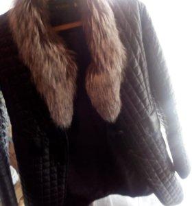 Курточка без меха .под кожу